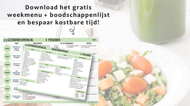 Lead magnet gezondweekmenu.nl