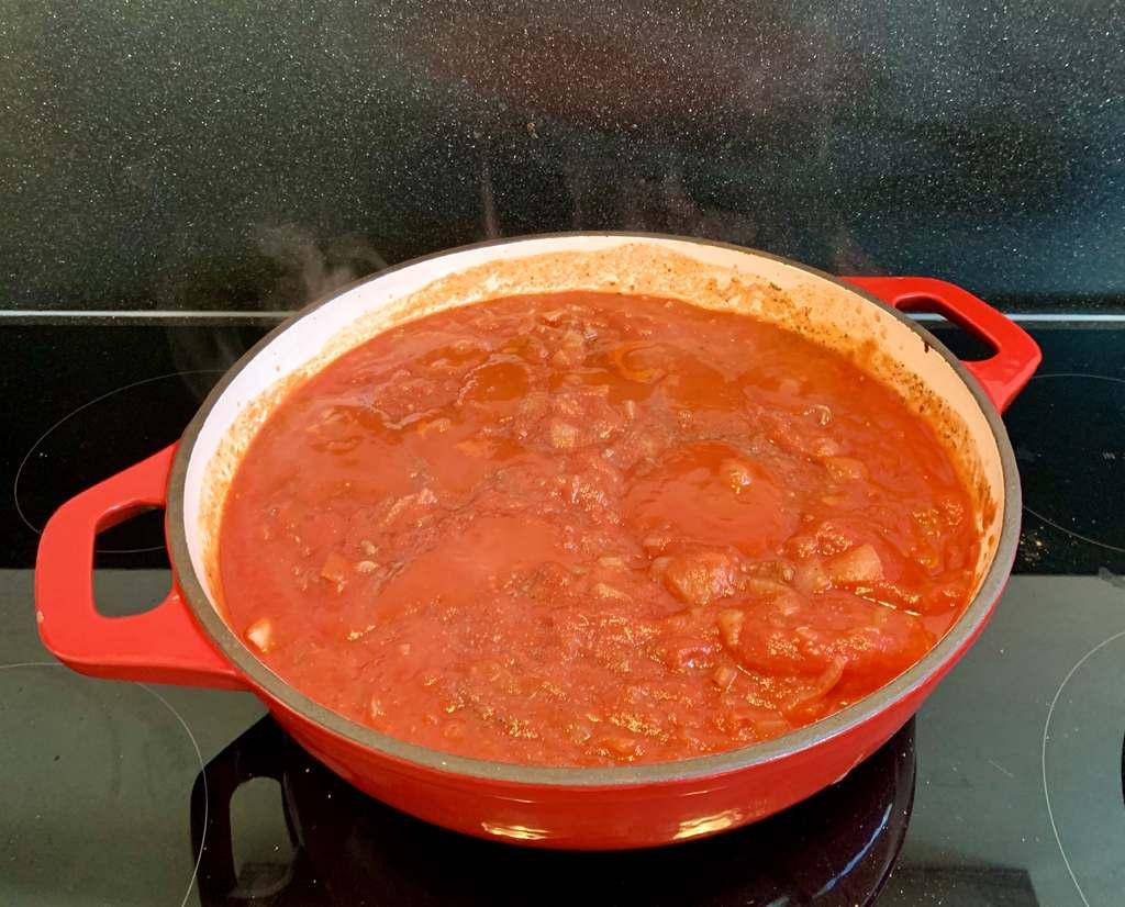 Ingrediënten Italiaanse pastasaus