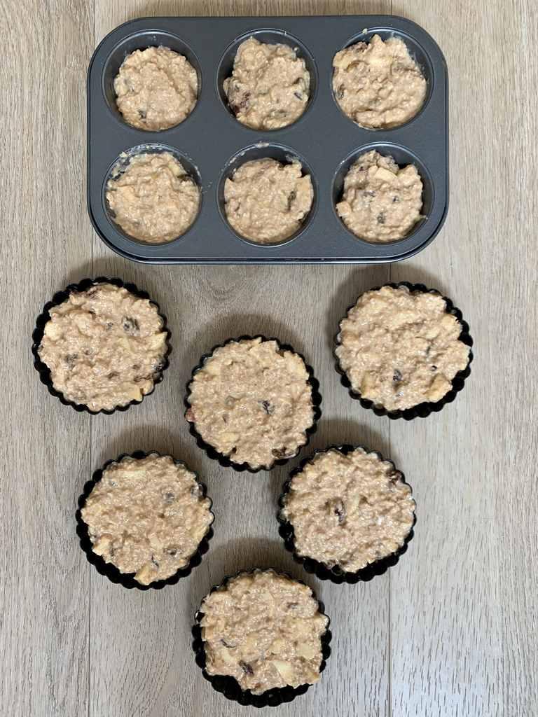 Appeltaartjes en cupcakes zonder suiker