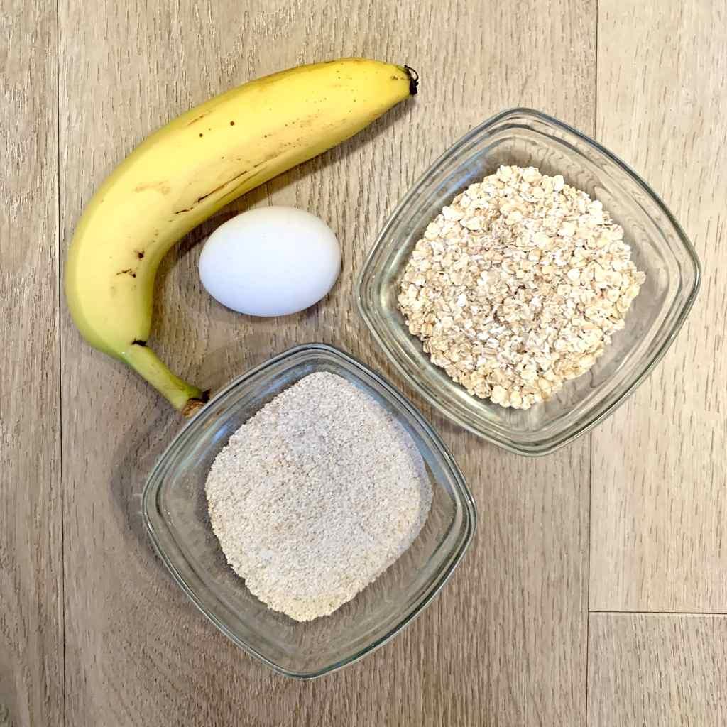 Bananenpannenkoek met havermout en ei