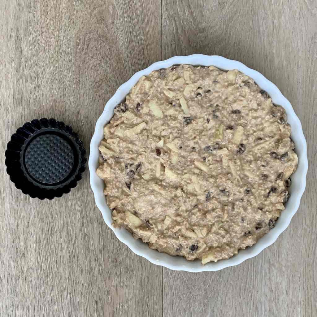Beslag voor appeltaart zonder suiker