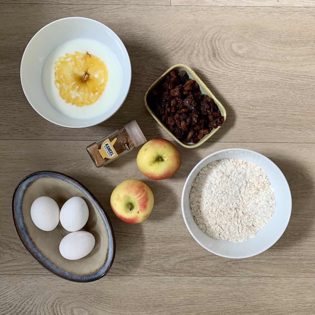 Gezonde appeltaart ingrediënten