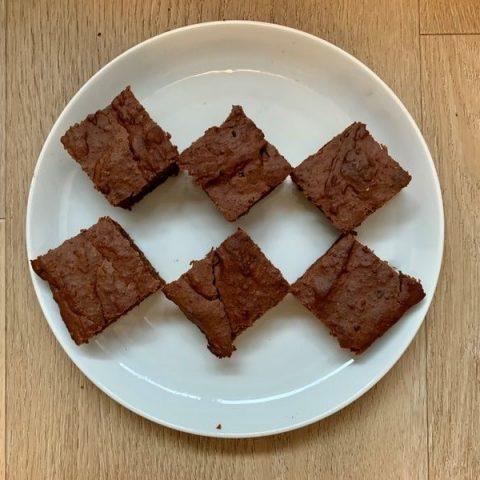 Zoete aardappel brownie zonder suiker