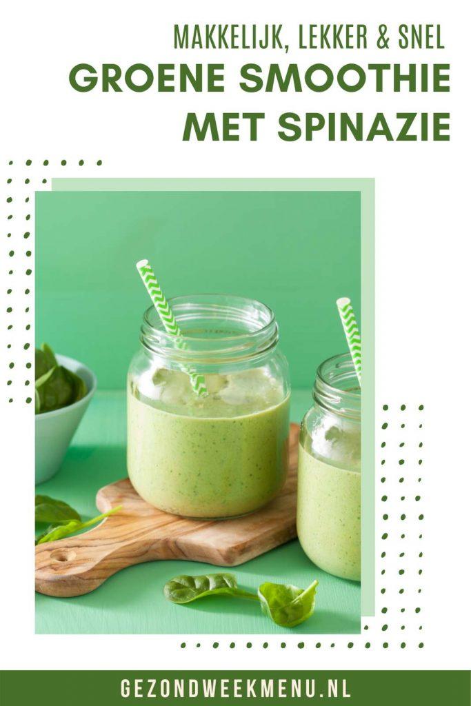 Heerlijk recept voor een gezonde groene smoothie! Dit smoothie recept is snel, gemakkelijk en heel erg lekker! #recept #smoothie #gezond