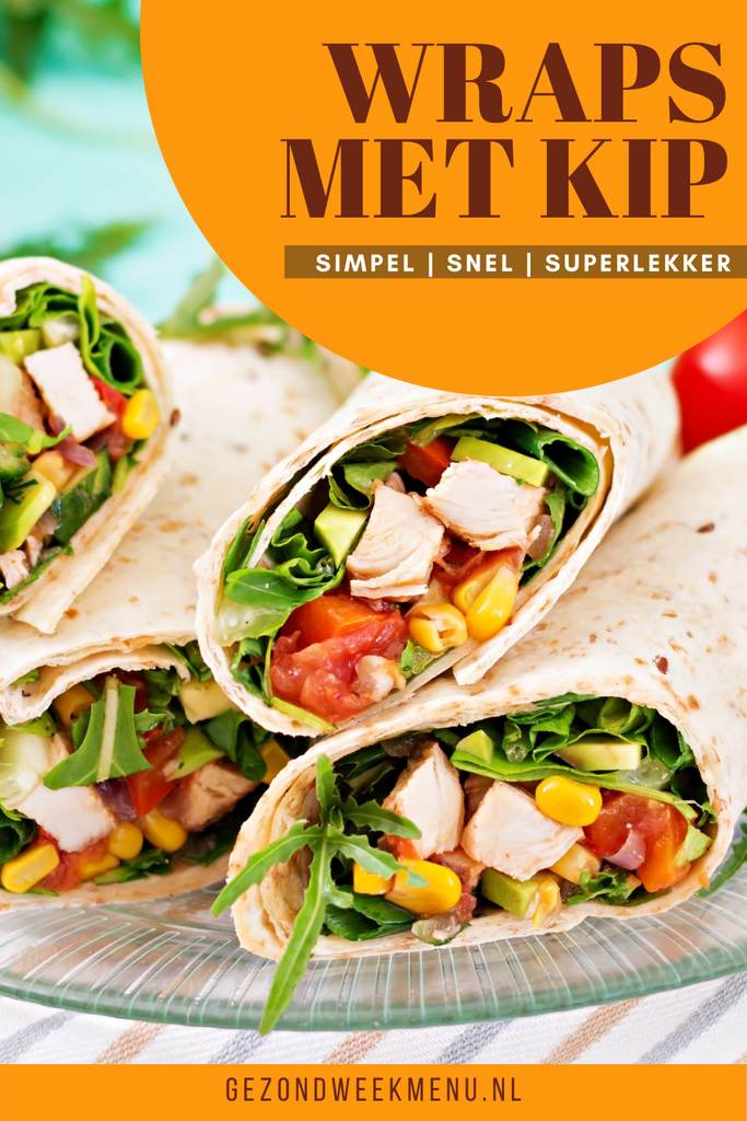 Zoek je een lekker recept voor gezonde wraps met kip en avocado? Dit recept is perfect voor de zomer en staat binnen 20 minuten op tafel! #wraps #zomerserecepten #gezond