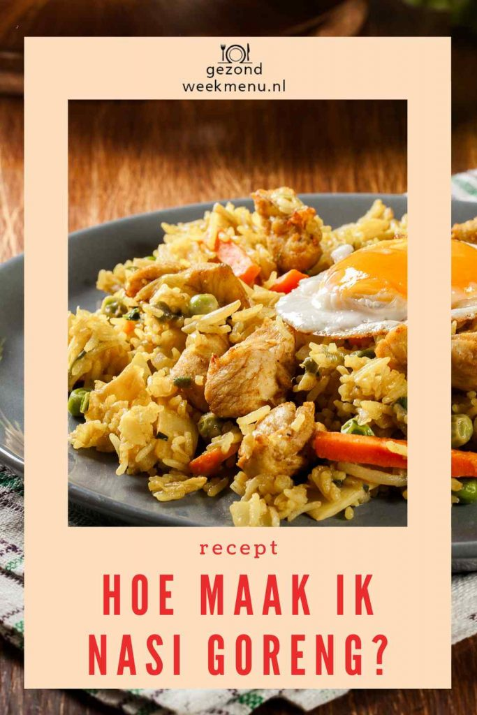 Op zoek naar een lekker recept voor nasi zonder pakje? Deze nasi goreng is superlekker en staat binnen 30 minuten op tafel. #nasigoreng #indonesisch