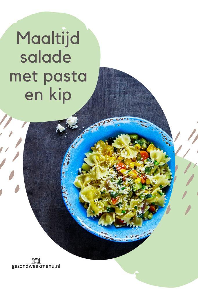 Deze gezonde maaltijdsalade met gerookte kip, mango en geitenkaas staat binnen 20 minuten op tafel, is superlekker en makkelijk om te maken   maaltijdsalade   gezonde salade   pastasalade   maaltijdsalade gezond kip